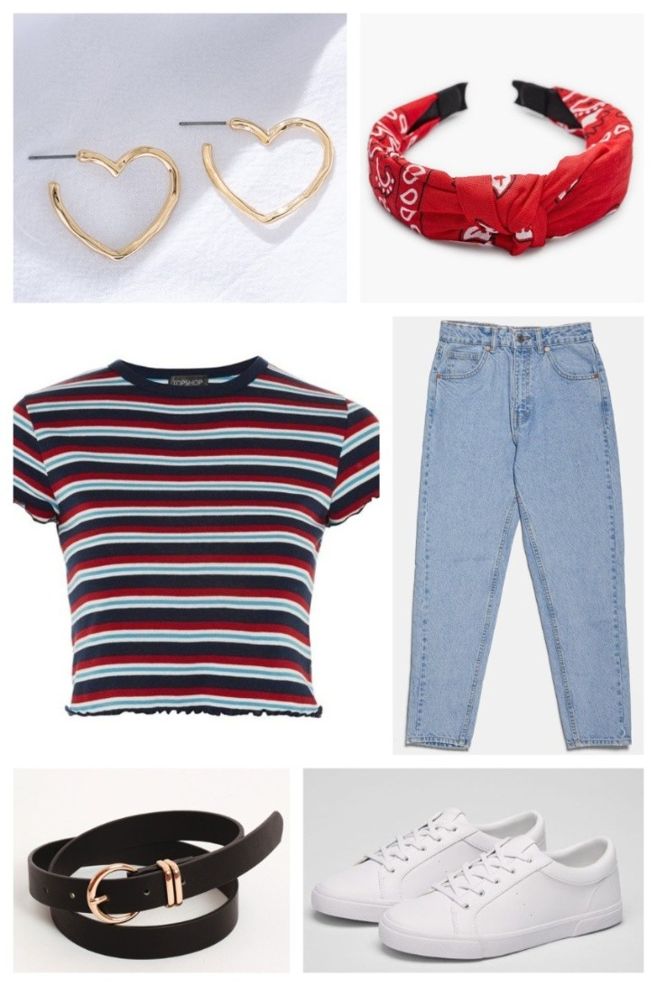 Outfit casual con mom jeans. | Pinterest